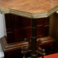 Edwardian Wine Table with Brass decoration to the edge thumbnail