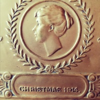 1914 Embossed Brass Christmas gift box, gifted to Soldiers on the Front Line from Princess Mary thumbnail