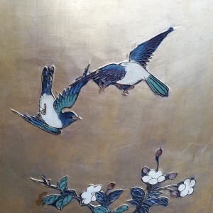 Mid century Chinese Lacquer Cabinet thumbnail