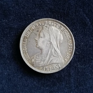 1896 Solid Silver Crown LX (Regnal Year 60) thumbnail