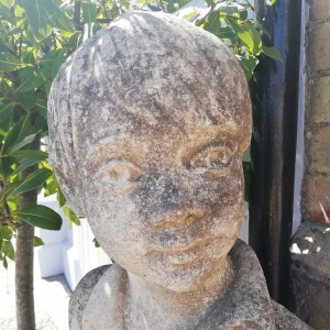 Large Stone Planter in the form of a sitting boy  thumbnail