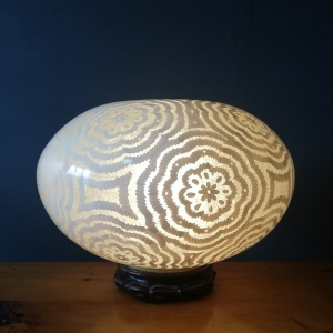 Contemporary Lamp on wooden Base thumbnail