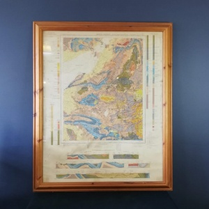 Large Vintage Map of Bristol District Geographical Survey of England and Wales 1946 thumbnail