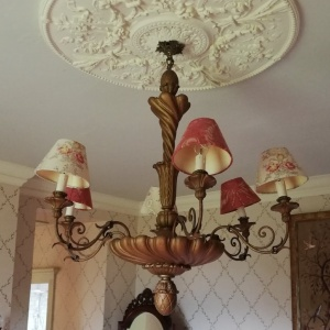 Late Georgian French 6 Arm Giltwood Chandalier thumbnail
