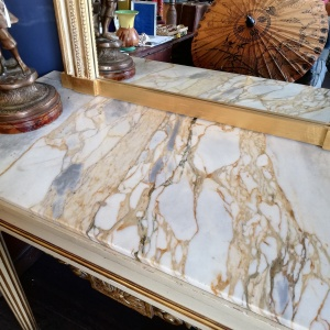 Louise XVI Style Regency period Marble topped console table thumbnail