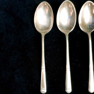 Set of six Vintage Silver Cocktail spoons 1970, Sheffield thumbnail