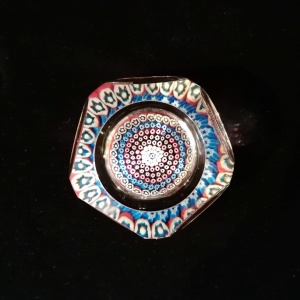 Whitefriars Millifiore Paperweight in original Box dated 1976 thumbnail