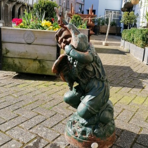 Antique Cast Iron Fountain in the form of a Boy with Goose thumbnail