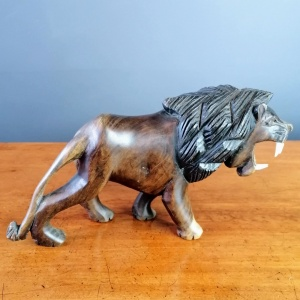 Hand Carved Roaring Lion thumbnail