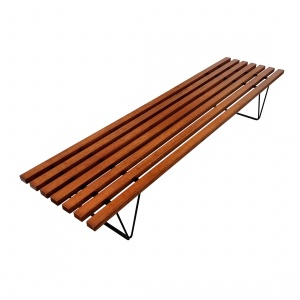 Slatted Hille bench by Robin Day, 1950's thumbnail