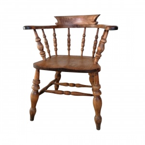 Antique Smokers Bow chair by Thomas Glenister thumbnail